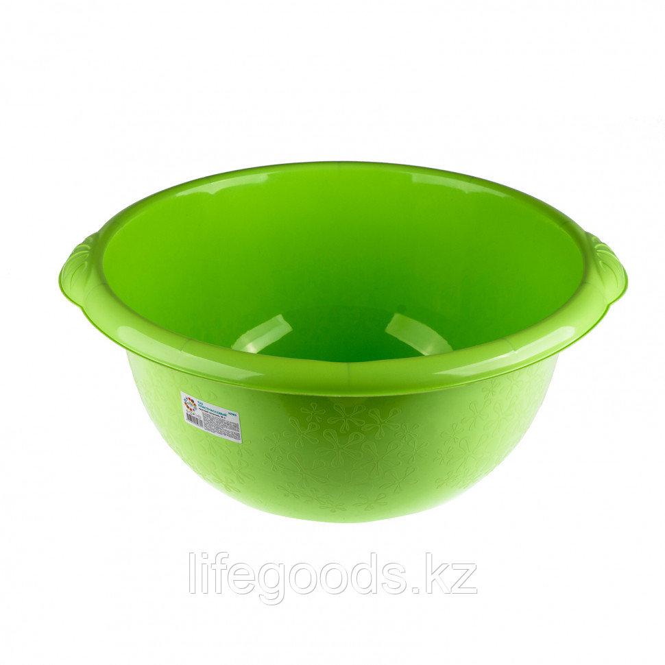Таз пластмассовый круглый 16 л, зеленый, Россия Elfe 92983
