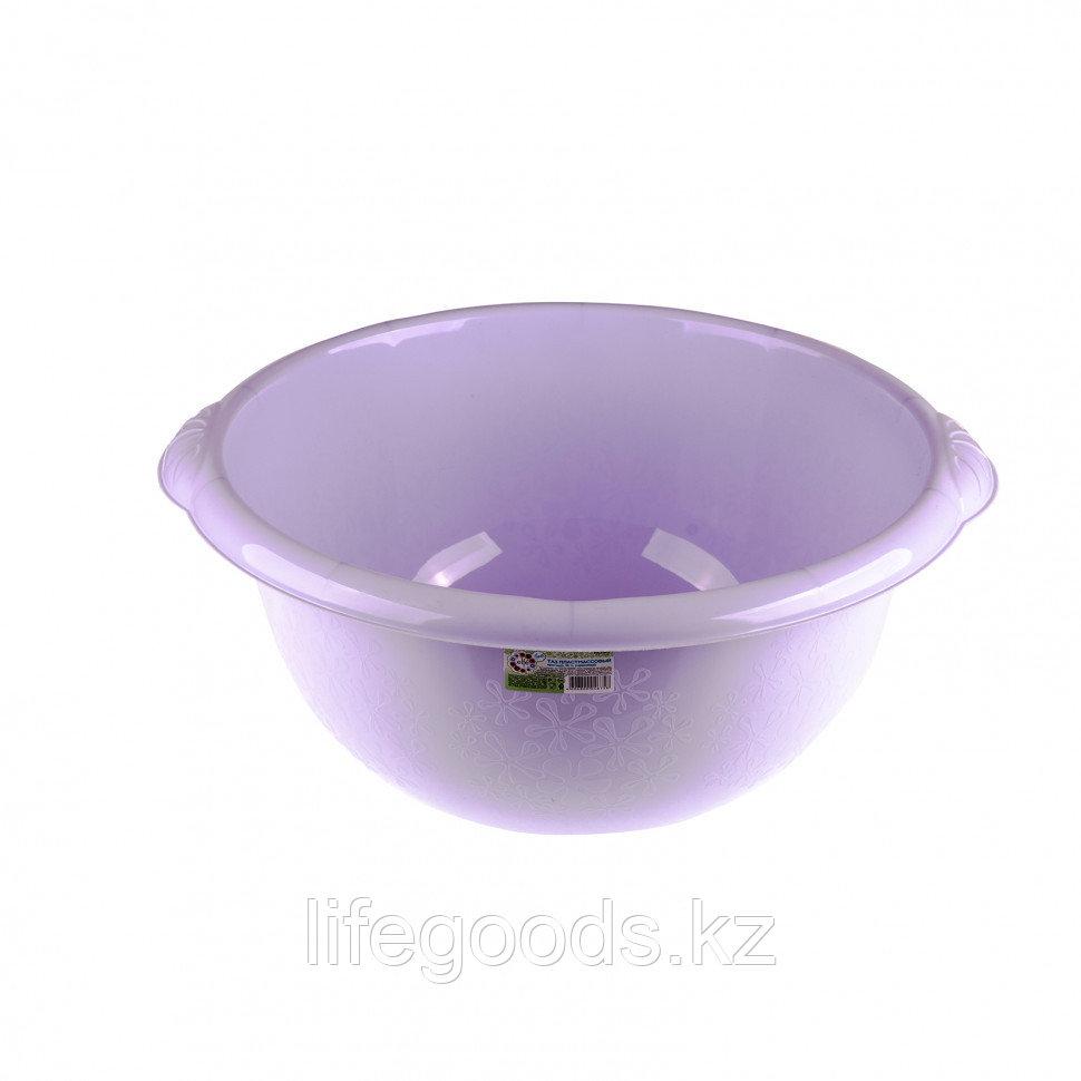 Таз пластмассовый круглый 18 л, фиолетовый, Россия Elfe 92984