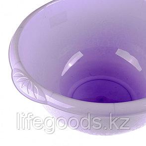 Таз пластмассовый круглый 18 л, фиолетовый, Россия Elfe 92984, фото 2