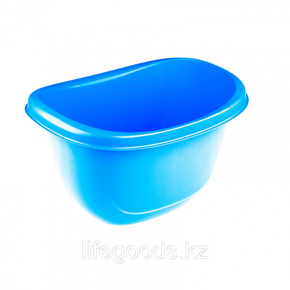 Таз пластмассовый овальный 16 л, голубой, Россия Elfe 92988