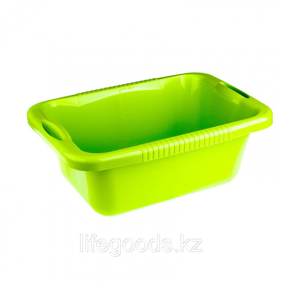Таз пластмассовый прямоугольный 25 л, зеленый, Россия Elfe 92990