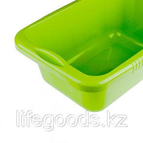 Таз пластмассовый прямоугольный 25 л, зеленый, Россия Elfe 92990, фото 2