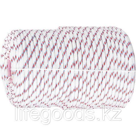 Фал плетеный полипропиленовый с сердечником, 16-прядный, 6 мм, бухта 100 м, 320 кгс Россия Сибртех 93965, фото 2