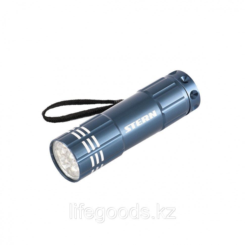 Фонарь бытовой алюминиевый, синий, 9 Led, 3 х ААА Stern 90505