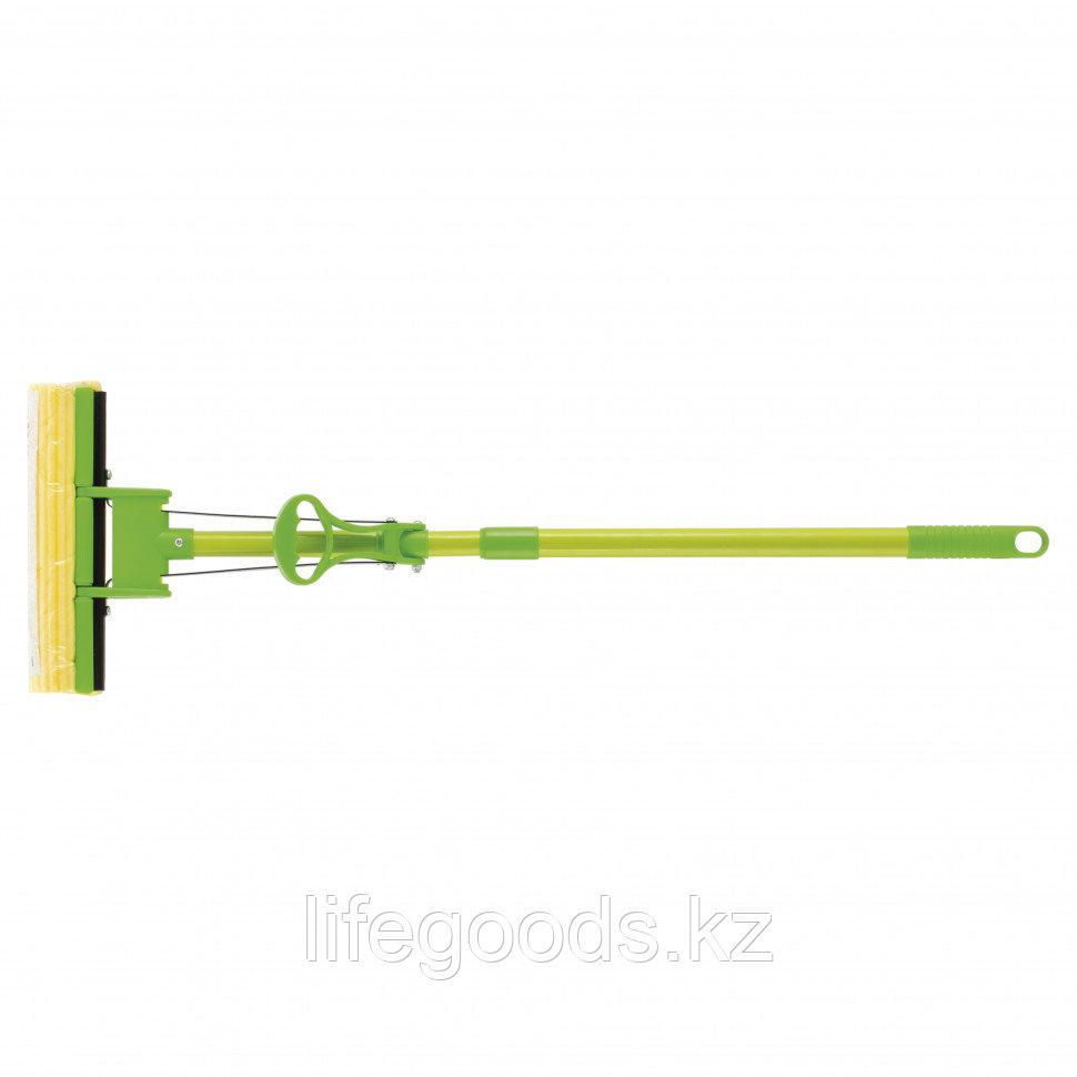 Швабра отжимная 115 см, губка PVA 27 x 5,5 x 6 см, телескопическая рукоятка, зеленая Elfe 93518