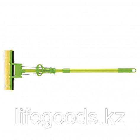Швабра отжимная 115 см, губка PVA 27 x 5,5 x 6 см, телескопическая рукоятка, зеленая Elfe 93518, фото 2