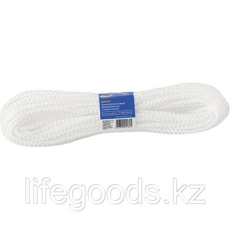 Шнур вязаный полипропиленовый с сердечником, белый, 7 мм, L20 м, 140 кгс Россия Сибртех 93960, фото 2