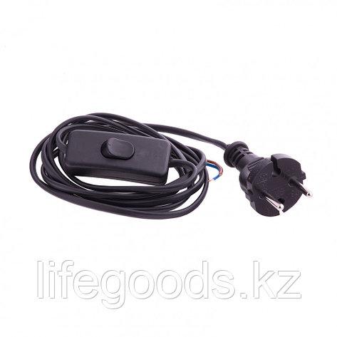 Шнур электрический соединительный, для бра с выключателем, 1,7 м, 120 Вт, черный, тип V-1 Россия Сибртех 96017, фото 2