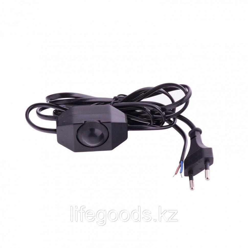 Шнур электрический соединительный, для бра с диммером, 1,5 м, 120 Вт, черный, тип V-2 Россия Сибртех 96018