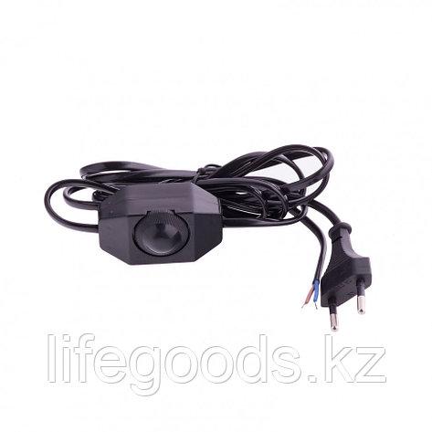 Шнур электрический соединительный, для бра с диммером, 1,5 м, 120 Вт, черный, тип V-2 Россия Сибртех 96018, фото 2