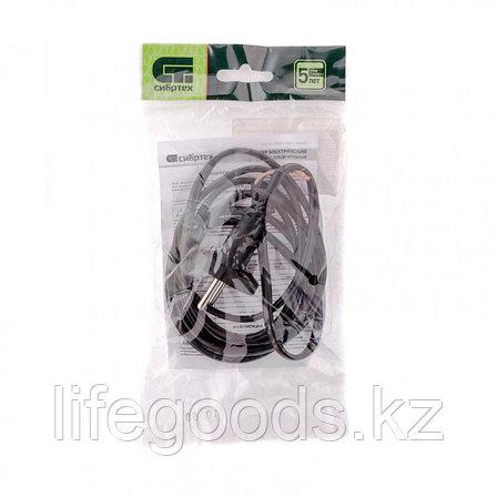 Шнур электрический соединительный, для настольной лампы, 1,7 м, 120 Вт, черный, тип V-1 Россия Сибртех 96015, фото 2