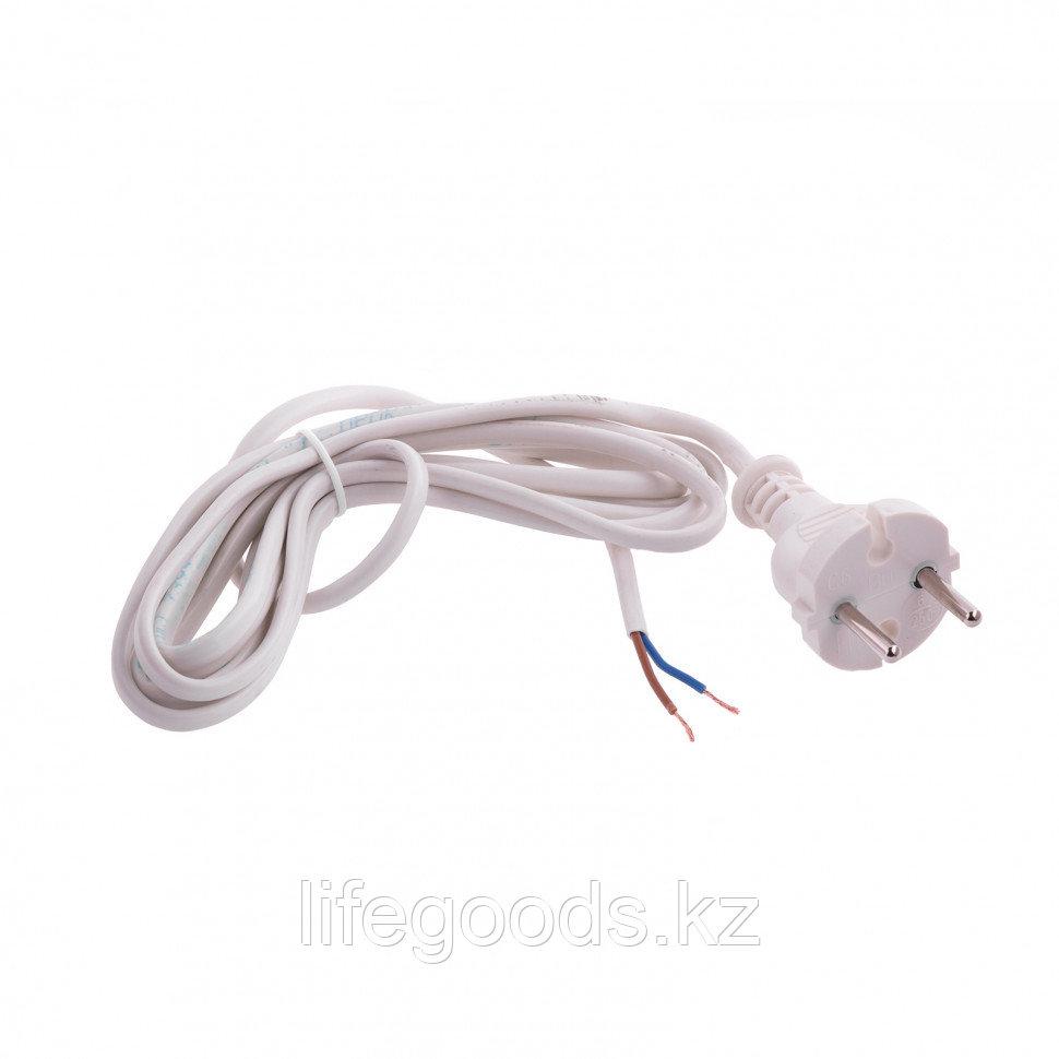 Шнур электрический соединительный, для настольной лампы, 2,2 м, 120 Вт, белый, тип V-1 Россия Сибртех 96011