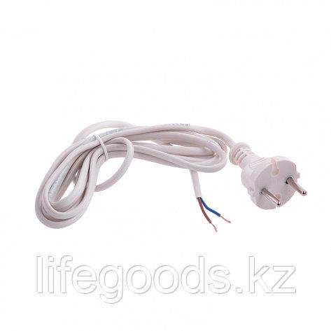 Шнур электрический соединительный, для настольной лампы, 2,2 м, 120 Вт, белый, тип V-1 Россия Сибртех 96011, фото 2