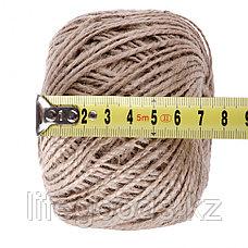 Шпагат джутовый, L 100 м, двухниточный, 1120 текс, 13,5 кгс Россия Сибртех 93876, фото 3
