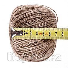 Шпагат джутовый, L 140 м, двухниточный, 560 текс, 4,5 кгс Россия Сибртех 93875, фото 3
