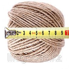 Шпагат джутовый, L 60 м, пятиниточный, 2800 текс, 30 кгс Россия Сибртех 93882, фото 3