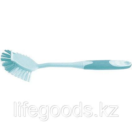 Щетка для посуды квадратная 68 х 37 х 275 мм, двухкомпонентная рукоятка Elfe 93308