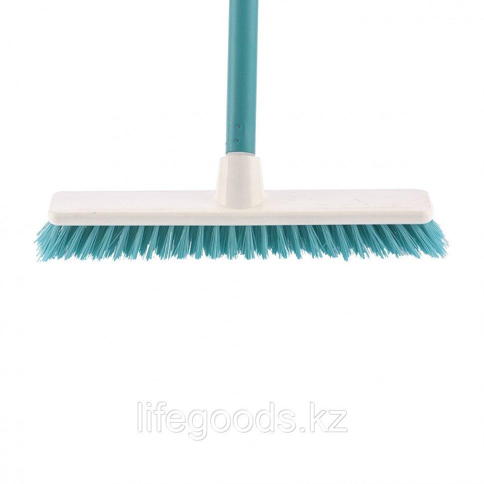 """Щетка пластмассовая """"Shrober"""" для чистки ковров 270 мм, бирюзовая, c черенком, 120 см, D 22 мм Elfe 93550"""
