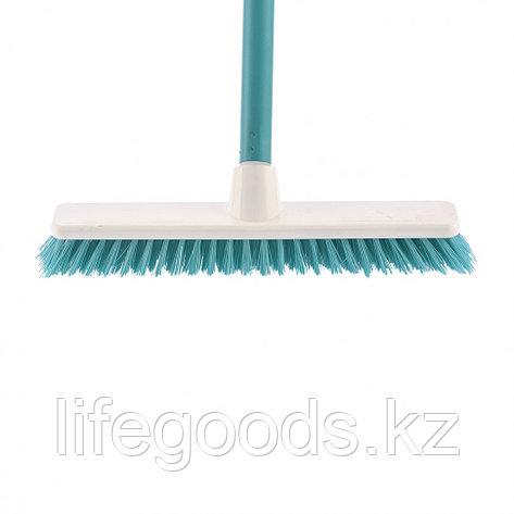 """Щетка пластмассовая """"Shrober"""" для чистки ковров 270 мм, бирюзовая, c черенком, 120 см, D 22 мм Elfe 93550, фото 2"""