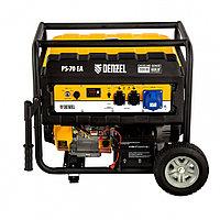 Генератор бензиновый PS 70 EA, 7.0 кВт, 230 В, 25 л, коннектор автоматики, электростартер Denzel, фото 1