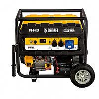 Генератор бензиновый PS 80 EA, 8.0 кВт, 230 В, 25 л, коннектор автоматики, электростартер Denzel, фото 1