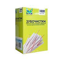 Зубочистки 65 мм с ментолом., бамбук в инд. ПП уп.1000 шт/упак, 1000 шт