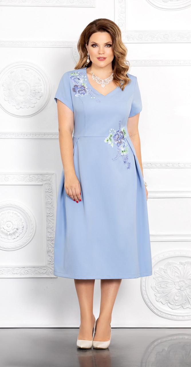 Платье Mira Fashion-4689, голубой, 50