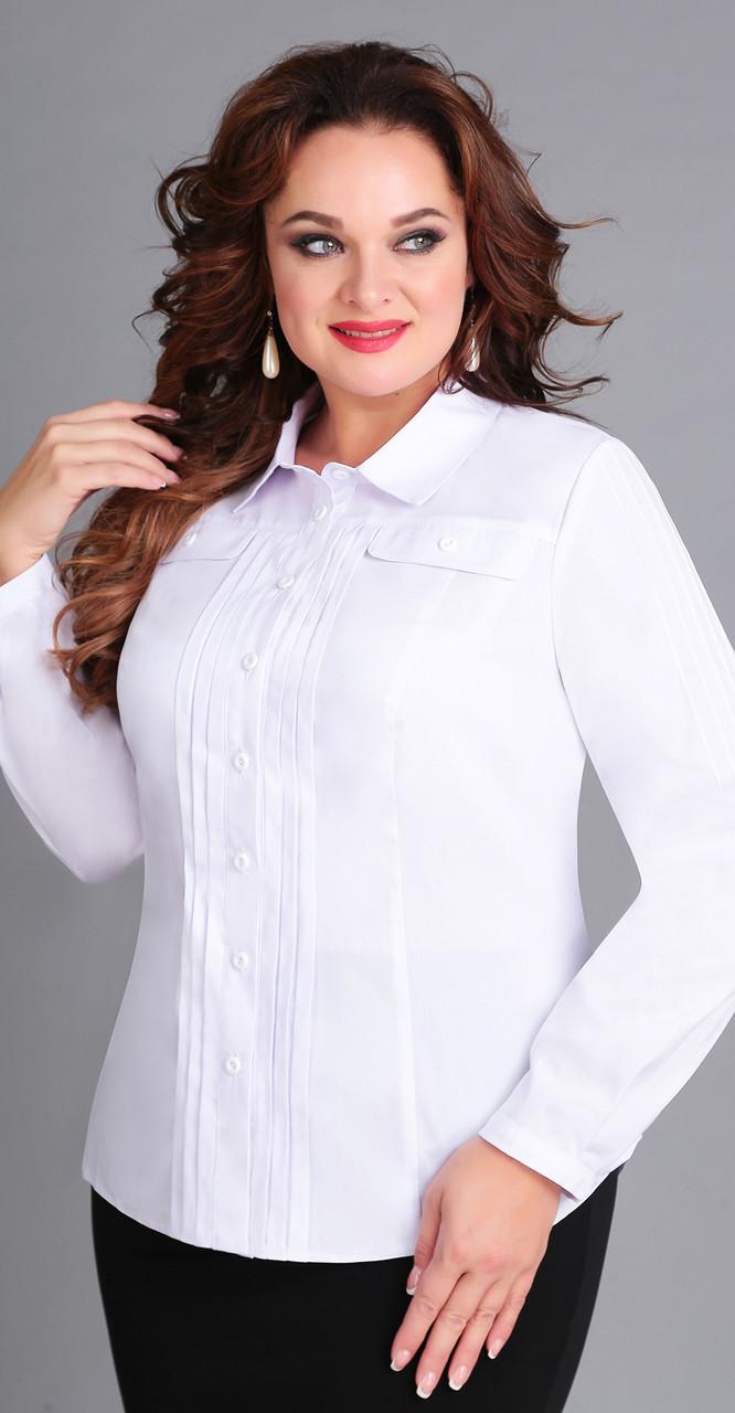 Блузка Асолия-4045, белый, 52
