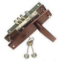 ЗАМОК ВРЕЗНОЙ ПРО-САМ 84301 с коричневой ручкой