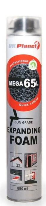 ПЕНА МОНТАЖНАЯ UK PLANET MEGA 65L (пистолет) 890мл