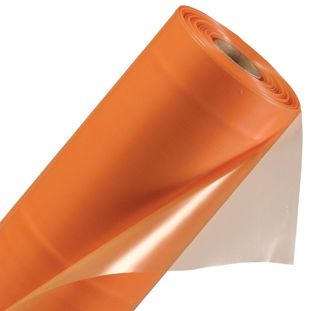 ПЛЕНКА полиэтиленовая 100 мкр 1,25м * 50м оранжевая
