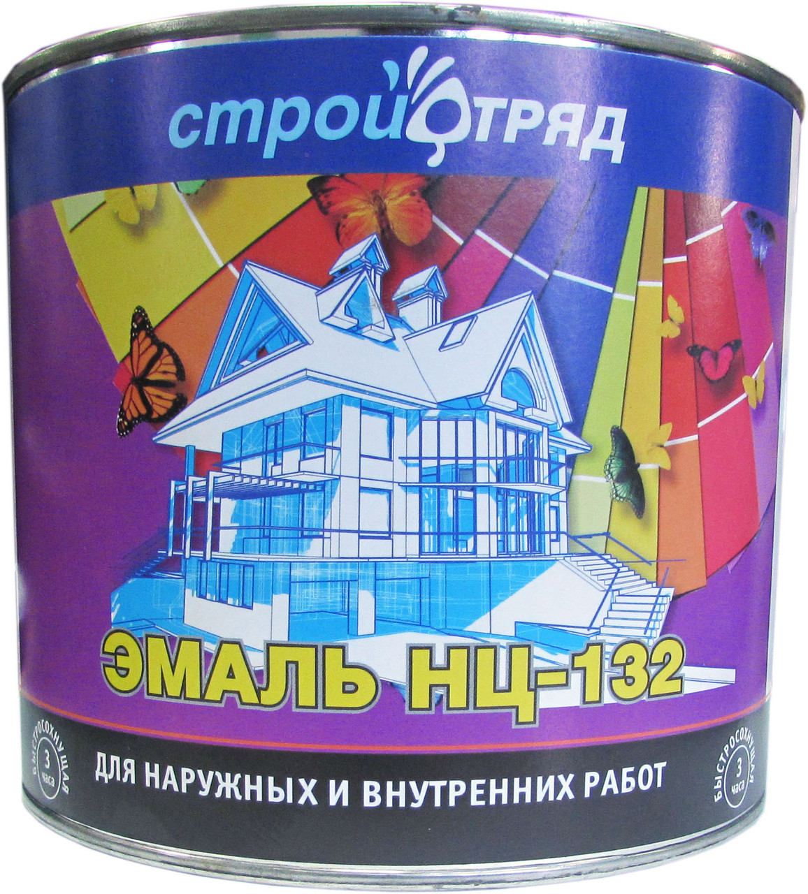 ЭМАЛЬ НЦ-132 зеленая 2,6 кг