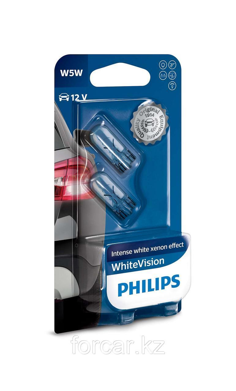 Автомобильная лампа W5W WHITE VISION 12V B2 12961 PHILIPS