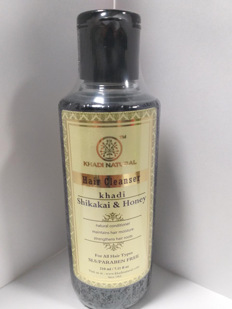 Шампунь Кхади Шикакай и мед, без СЛС и парабенов, 210 мл, Khadi Shikakai & Honey