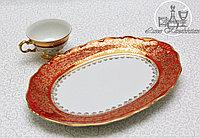 Фарфоровое овальное блюдо из серии «Красный лист»