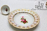 Фарфоровое глубокое круглое блюдо из серии «Испанская роза/Перломутровая»