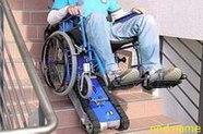 Подъемник лестничный, гусеничный для инвалидов, электрический, складной, фото 2