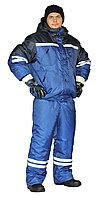 "Костюм зимний ""СТИМ"" куртка/полукомб. цвет: василек/т.синий, фото 1"