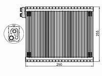 Испаритель кондиционера TOYOTA LC PRADO 120 /HILUX/4RUNNER /FJ CRUISER /LEXUS GX470 02-05