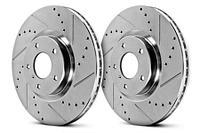 Комплект дисков тормозных зад перфорированные NISSAN X-TRAIL T30/T31/QASHQAI J10 07-