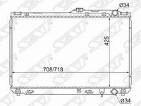 Радиатор TOYOTA CAMRY/SCEPTER/WINDOM/LEXUS ES300 VCV10 2.5/3.0 92-94