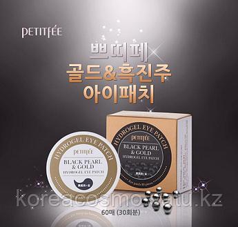 Petitfee Гидрогелевые патчи с экстрактом черного жемчуга и коллоидным золотом Black Pearl & Gold Eye Patch (60
