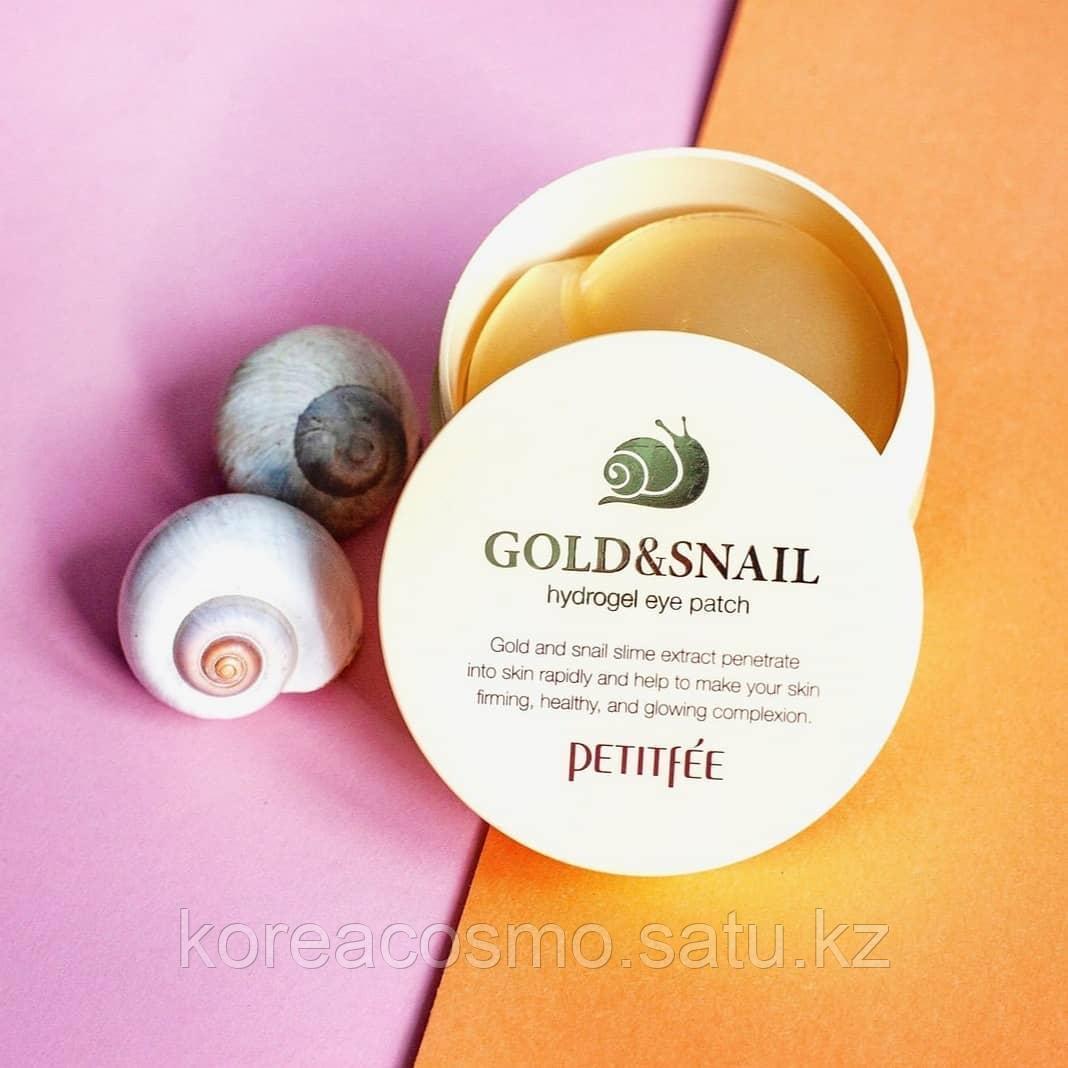 Гидрогелевые патчи с золотом и секретом улитки против морщин Petitfee Gold & Snail Hydrogel Eye Patch