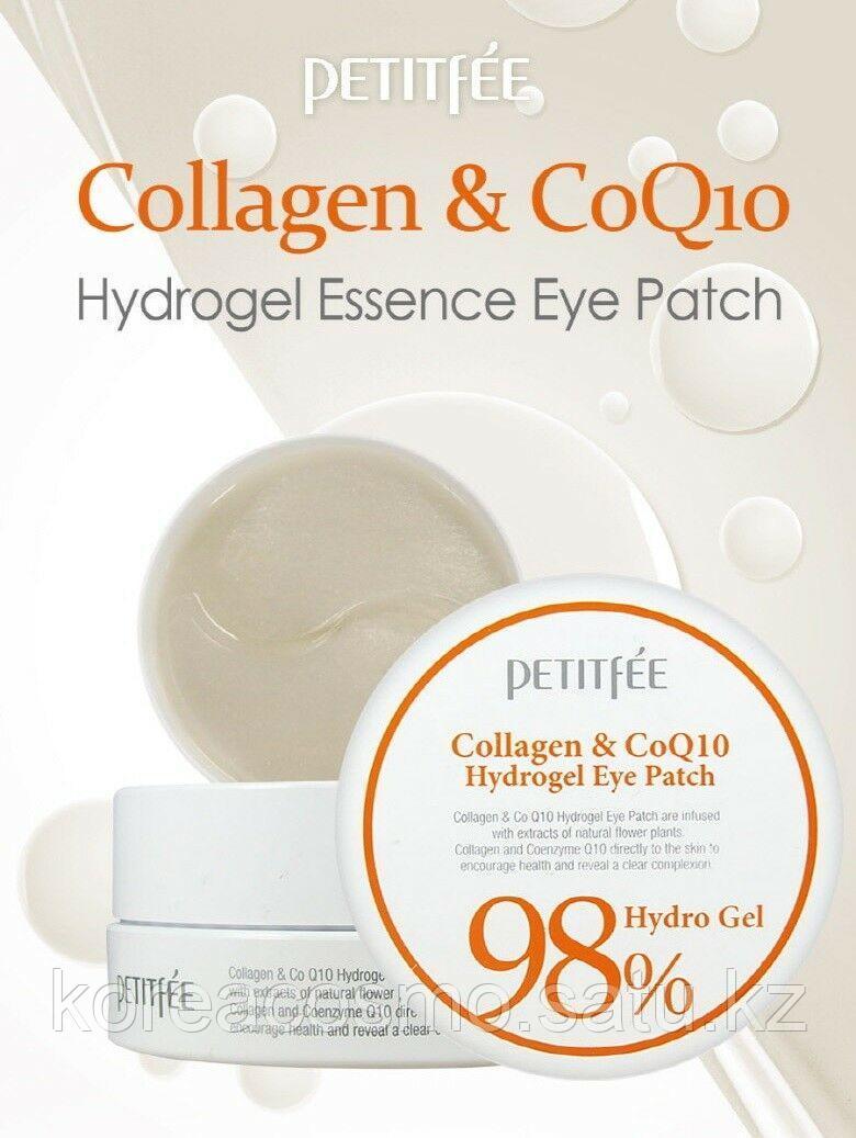 Petitfee Антивозрастные гидрогелевые патчи для кожи вокруг глаз с коллагеном и коэнзимом Q10 Collagen & CoQ10