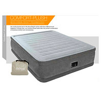 Двуспальная кровать надувная со встроенным насосом INTEX 64418 DURA-BEAM PLUS