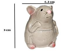 Копилка керамическая серая мышка (маленькая)