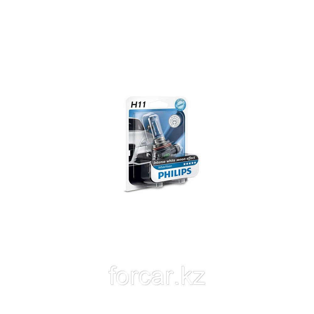 Автомобильная лампа H11 WHITE VISION 12V 55W B1 12362 PHILIPS