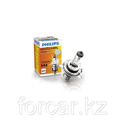 Автомобильная лампа H4 PREMIUM 60/55W 12342 12V P43t-38 C1 PHILIPS, фото 2