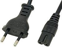 Шнур сетевой черный 1,5 м для питания магнитол,принтеров,радиоприемников