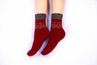 Носки женские, Олени красный, р-р 36-40